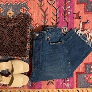 25% off🍂Zara straight crop jeans